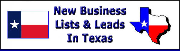 New Business Lists and Leads In Texas